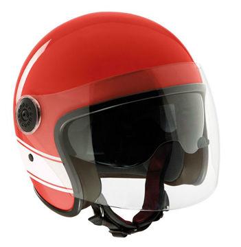 Resim Tucano Urbano EL JET Motosiklet Yarım Kask Kırmızı