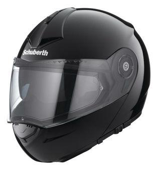 Resim Schuberth C3 Pro Çeneden Açılır Motosiklet Kaskı Parlak Siyah