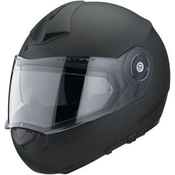 Resim Schuberth C3 Pro Çeneden Açılır Motosiklet Kaskı Mat Siyah
