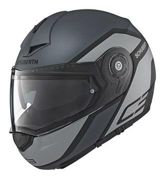 Resim Schuberth C3 Pro Observer Çeneden Açılır Motosiklet Kaskı Gri