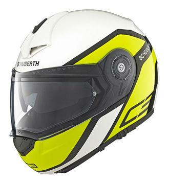Resim Schuberth C3 Pro Observer Çeneden Açılır Motosiklet Kaskı Sarı