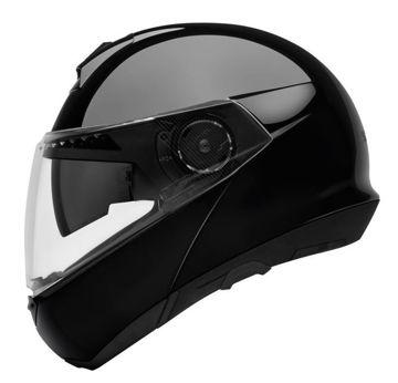 Resim Schuberth C4 Çeneden Açılır Motosiklet Kaskı Parlak Siyah