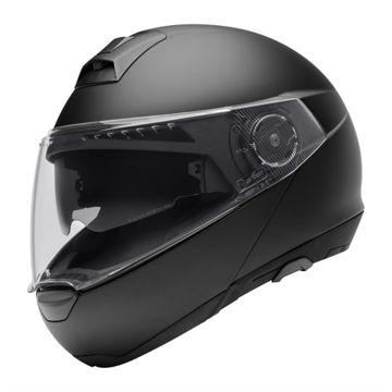 Resim Schuberth C4 Çeneden Açılır Motosiklet Kaskı Mat Siyah