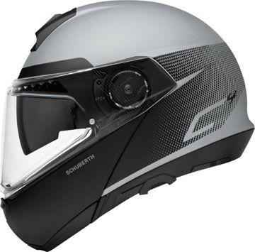 Resim Schuberth C4 Resonance Çeneden Açılır Motosiklet Kaskı Gri