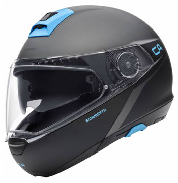 Resim Schuberth C4 Spark Çeneden Açılır Motosiklet Kaskı Gri