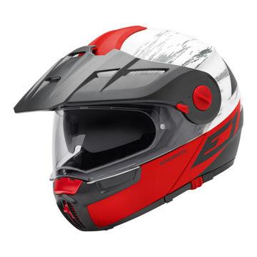 Resim Schuberth E1 Crossfire Çeneden Açılır Motosiklet Kaskı Kırmızı