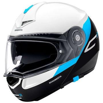 Resim Schuberth C3 Gravity Çeneden Açılır Motosiklet Kaskı Mavi