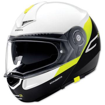 Resim Schuberth C3 Gravity Çeneden Açılır Motosiklet Kaskı Sarı