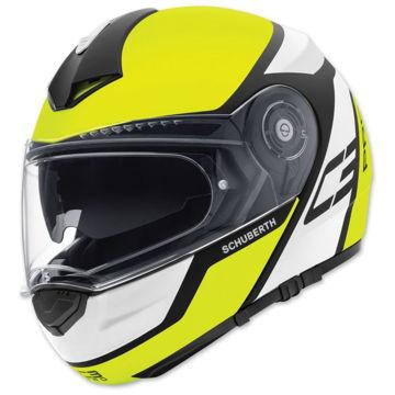 Resim Schuberth C3 Pro Echo Çeneden Açılır Motosiklet Kaskı Sarı