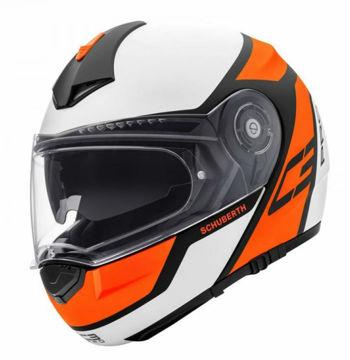 Resim Schuberth C3 Pro Echo Çeneden Açılır Motosiklet Kaskı Turuncu