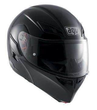 Resim AGV Compact ST Solid Çene Açılır Motosiklet Kaskı Siyah