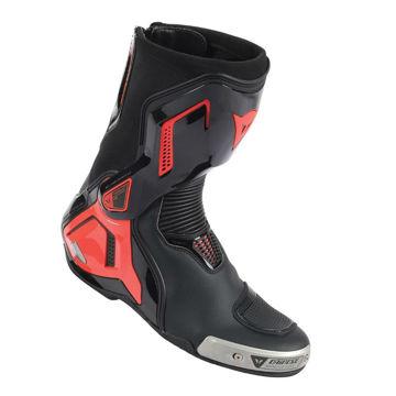 Resim Dainese Torque D1 Out Deri Motosiklet Botu Siyah Neon Kırmızı