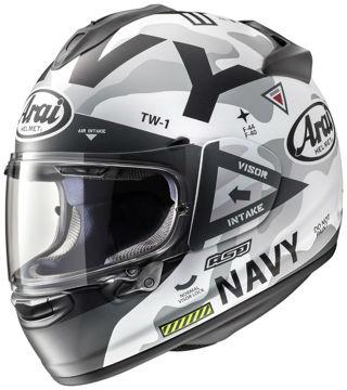 Resim Arai Chaser-X Navy White Kapalı Motosiklet Kaskı