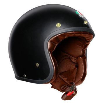 Resim Agv X70 Solid Mat Siyah Yarım Motosiklet Kaskı