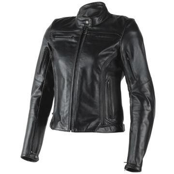Resim Dainese Nikita Deri Kadın Motosiklet Ceketi Siyah