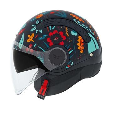 Resim NEXX SX.10 Chloe Yarım Motosiklet Kaskı Mat Siyah