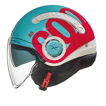 Resim NEXX SX.10 Cooljam Yarım Motosiklet Kaskı Mavi Pembe