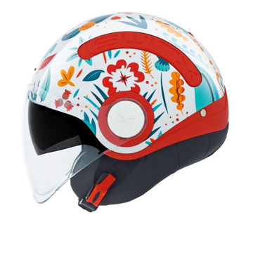 Resim NEXX SX.10 Chloe Yarım Motosiklet Kaskı Beyaz Kırmızı