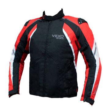Resim VEXO Satürn Mevsimlik Motosiklet Montu Siyah Kırmızı