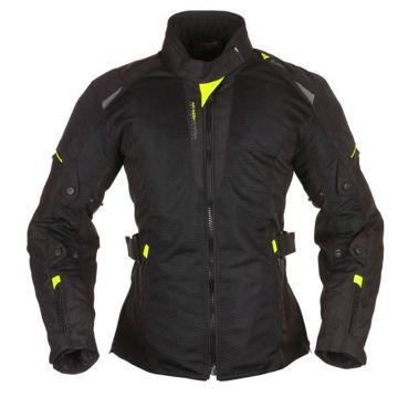 Resim Modeka Upswing Kadın Motosiklet Montu Siyah Sarı