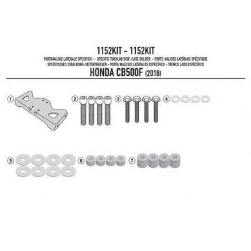 Resim Givi 1152KIT Yan Çanta Taşıyıcı Bağlantı Kiti Honda CB500F (16)