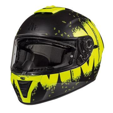 Resim MT Kask Blade 2 SV Oberon B3 Kapalı Motosiklet Kaskı Mat Siyah Sarı