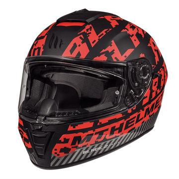 Resim MT Kask Blade 2 SV Check B5 Kapalı Motosiklet Kaskı Mat Siyah Kırmızı