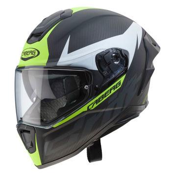 Resim Caberg Drift Evo Karbon Kapalı Motosiklet Kaskı Mat Antrasit Neon Sarı
