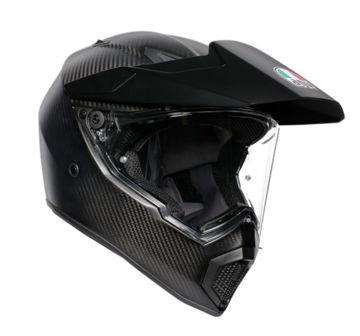 Resim Agv AX-9 Karbon Kapalı Motosiklet Kaskı Mat Siyah