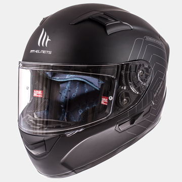 Resim MT Kask KRE SV Kapalı Motosiklet Kaskı Mat Siyah