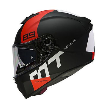 Resim MT Kask Blade 2 SV B5 Kapalı Motosiklet Kaskı Mat Siyah Kırmızı