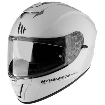 Resim MT Kask Blade 2 SV Kapalı Motosiklet Kaskı Beyaz