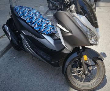 Resim Windtech Maxi Scooter Sele Kılıfı Kamuflaj Gri Mavi