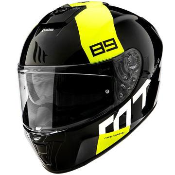 Resim MT Kask Blade 2 SV 89 B3 Kapalı Motosiklet Kaskı Parlak Siyah Neon Sarı