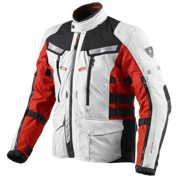 Resim Revit Sand 2 Mevsimlik Motosiklet Montu Gri Kırmızı