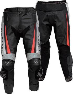 Resim Revit Gt Deri Motosiklet Pantolonu Kırmızı
