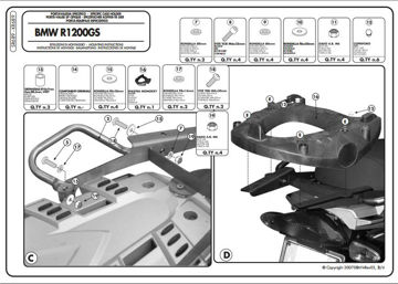Resim KAPPA BMW R 1200 GS (04-12) ARKA ÇANTA TAŞIYICISI KR689