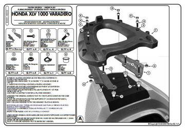 Resim Kappa K222 Honda XL 1000 Varadero 07-12 Arka Çanta Taşıyıcı