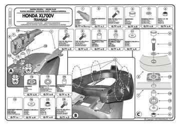 Resim KAPPA HONDA XL 700 TRANSALP (08-12) ARKA ÇANTA TAŞIYICISI K225