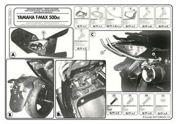 Resim KAPPA YAMAHA T-MAX 500 (08-11) ARKA ÇANTA TAŞIYICISI KR364