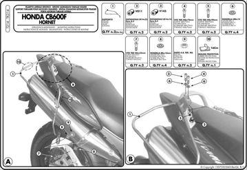 Resim KAPPA HONDA CB 600 F HORNET - S (98-06) YAN KUMAŞ ÇANTA TAŞIYICI TK214