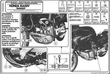 Resim KAPPA HONDA XL 650V TRANSALP (00-07) KORUMA DEMİRİ KN26