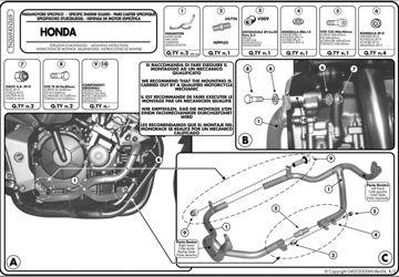 Resim KAPPA HONDA CBF 600S -600N (04-07)KORUMA DEMİRİ KN369