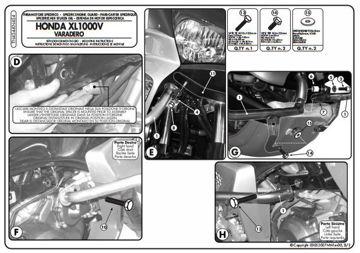 Resim KAPPA HONDA XL 1000V VARADERO - ABS (07-13) KORUMA DEMİRİ KN454