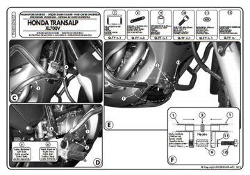 Resim KAPPA HONDA XL 700V TRANSALP (08-13) KORUMA DEMİRİ KN455
