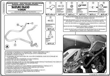 Resim KAPPA SUZUKI DL 650 V-STROM (04-12) KORUMA DEMİRİ KN532