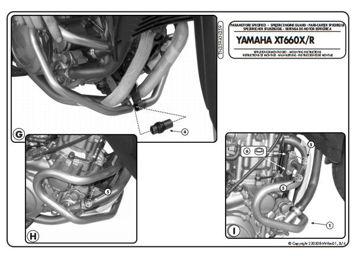 Resim KAPPA YAMAHA XT 660 R-X (07-14) KORUMA DEMİRİ KN359