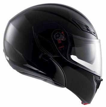 Resim AGV Compact Çeneden Açılır Motosiklet Kaskı Siyah