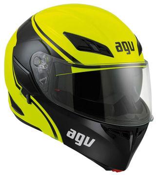 Resim AGV Compact Course Çeneden Açılır Motosiklet Kaskı Sarı