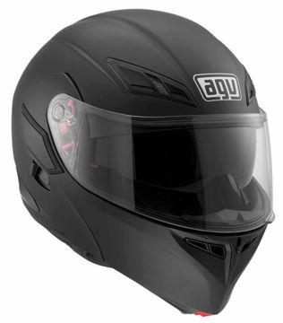 Resim AGV Compact Çeneden Açılır Motosiklet Kaskı Mat Siyah